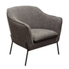 Status Accent Chair in Grey Fabric with Metal Leg