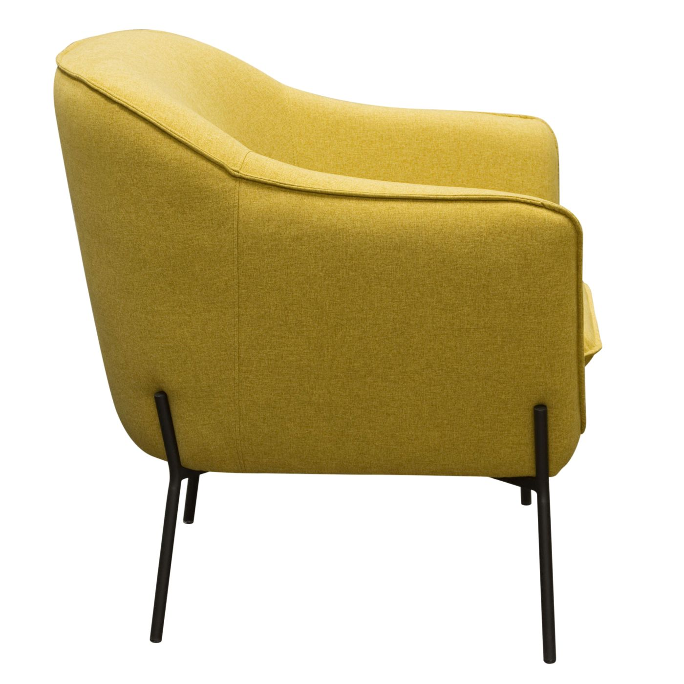 ... Status Accent Chair In Yellow Fabric With Metal Leg ...