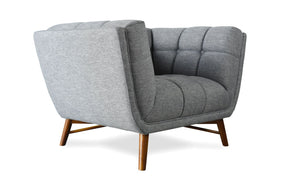 Zola Mid-Century Modern Accent Chair French Grey