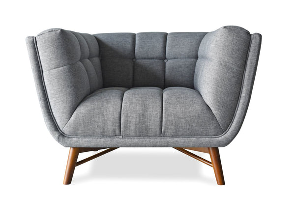 zola mid century modern accent chair french grey - Modern Accent Chairs
