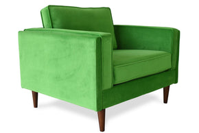 Madison Mid-Century Modern Velvet Accent Chair Lime Green
