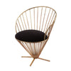 Iron Taper Wire Chair In Gold And Black