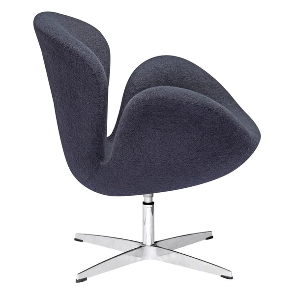 Swan Chair Fabric Black Accent