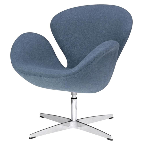 Swan Chair Fabric Dark Gray Accent