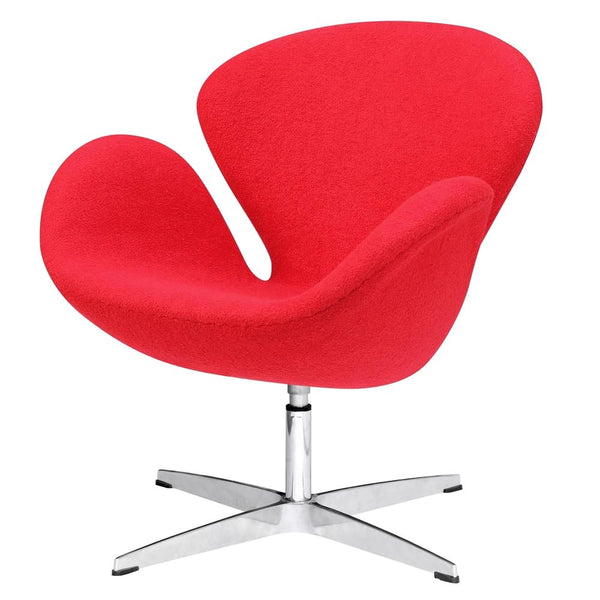 Swan Chair Fabric Red Accent