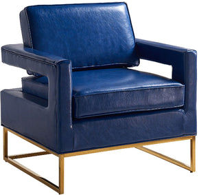 Meridian Amelia Navy Leather Accent Chair 512Navy | 647899944567| $484.80. Accent Chairs - . Buy today at http://www.contemporaryfurniturewarehouse.com