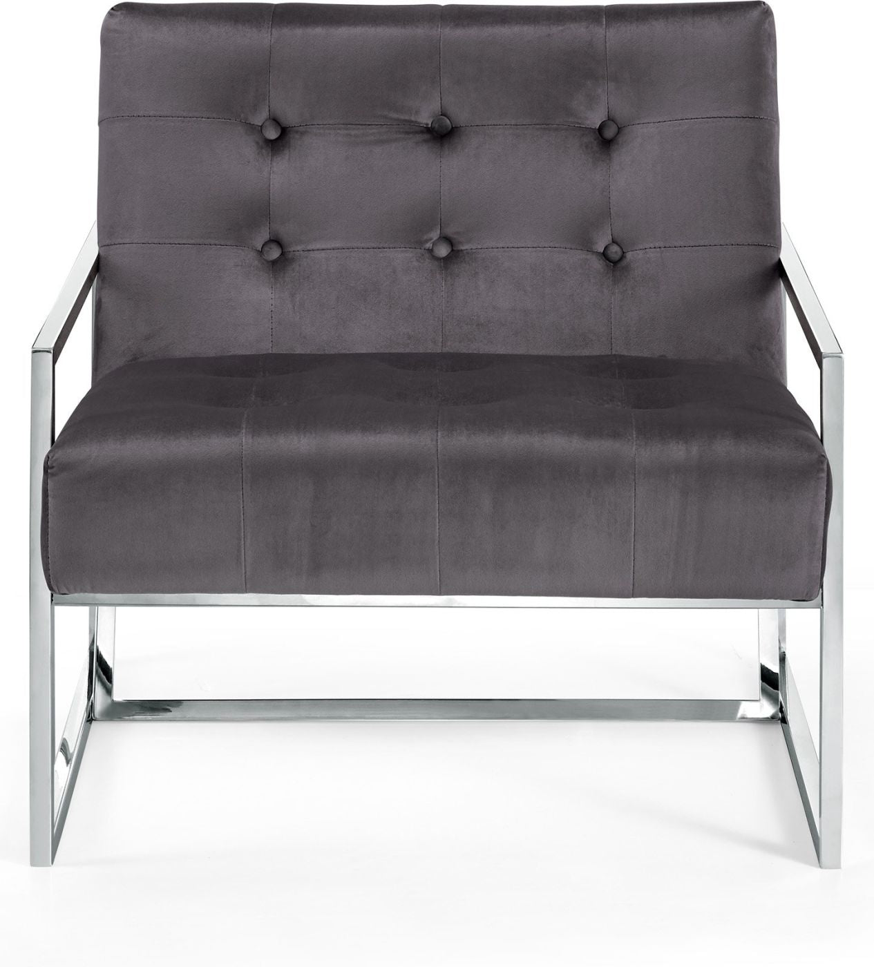 Buy Meridian 522grey Alexis Chrome Accent Chair At