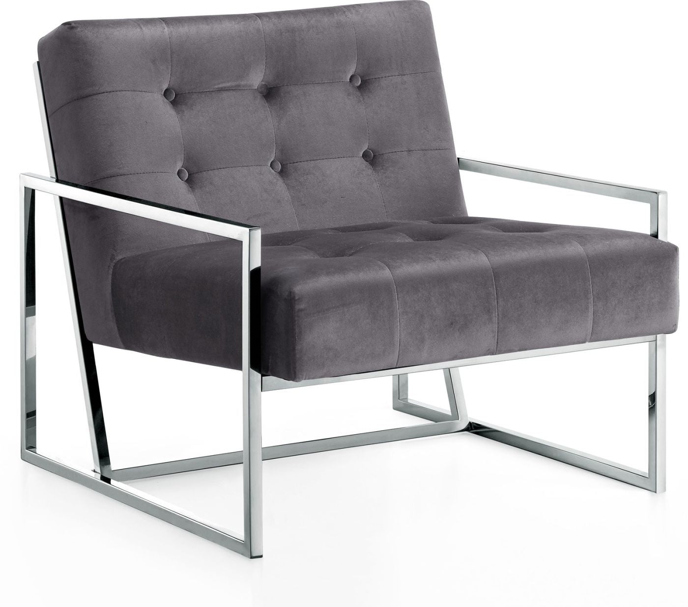 Terrific Buy Meridian 522Grey Alexis Chrome Accent Chair At Contemporary Furniture Warehouse Cjindustries Chair Design For Home Cjindustriesco