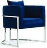 Pippa Navy Velvet Accent Chair