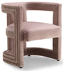 Blair Pink Velvet Accent Chair