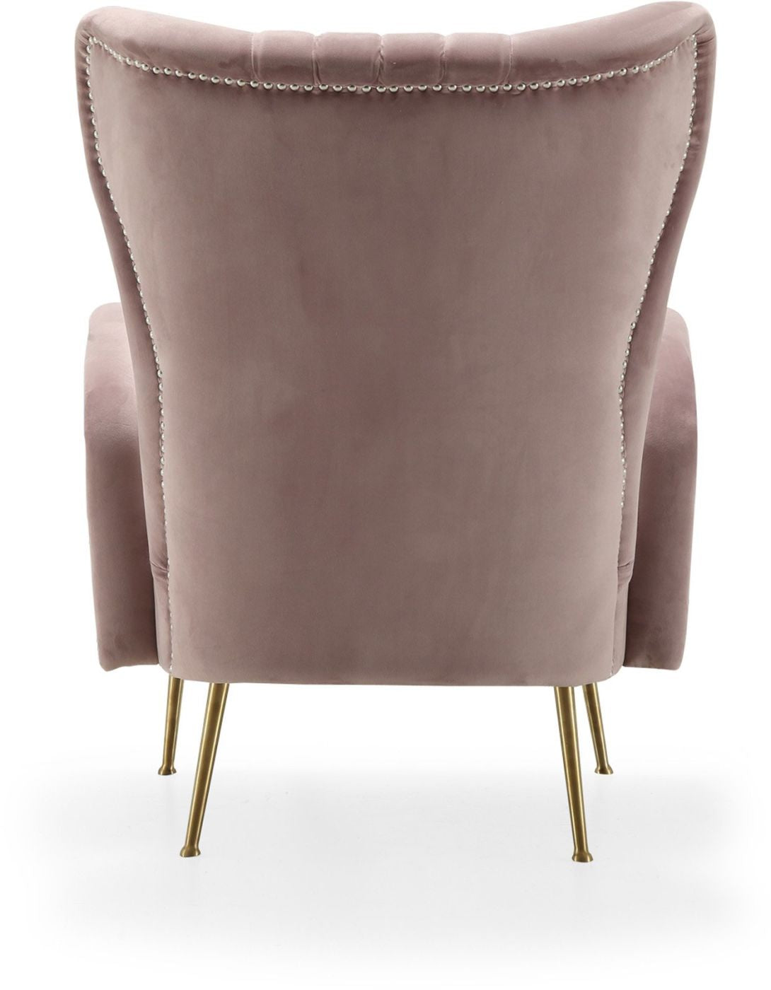 Awesome Buy Meridian 532Pink Opera Pink Velvet Accent Chair At Contemporary Furniture Warehouse Machost Co Dining Chair Design Ideas Machostcouk