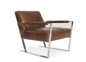 Uno Full Top Grain E Grade Contemporary Leather Chair Accent