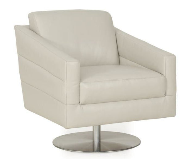 Eagle Full Top Grain Leather Modern Contemporary Chair Grey Accent