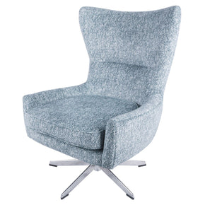 Arya Fabric Swivel Chair Quiver Indigo Blue Accent