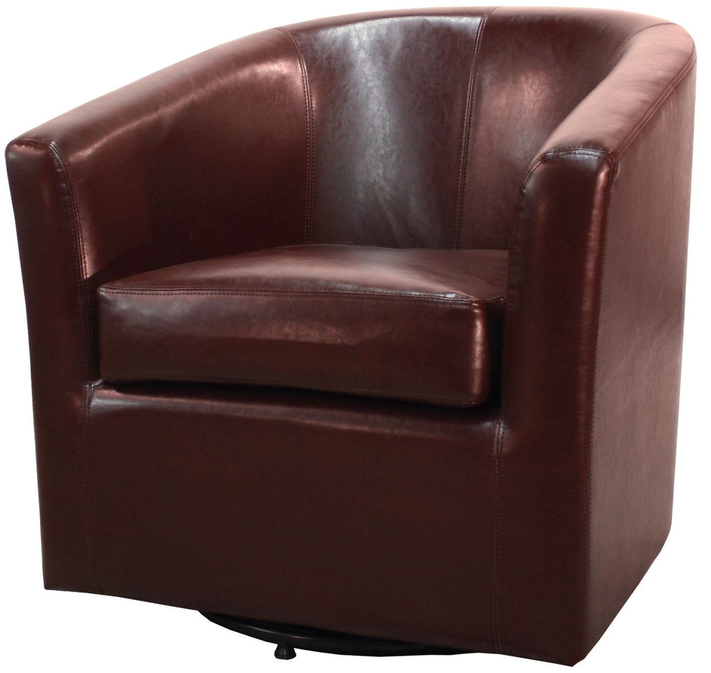 Tremendous Hayden Swivel Bonded Leather Chair Saddle Brown Caraccident5 Cool Chair Designs And Ideas Caraccident5Info