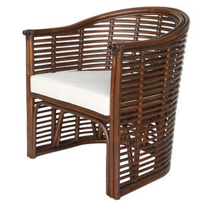 Knox Rattan Tub Chair Earth Tone Brown Accent