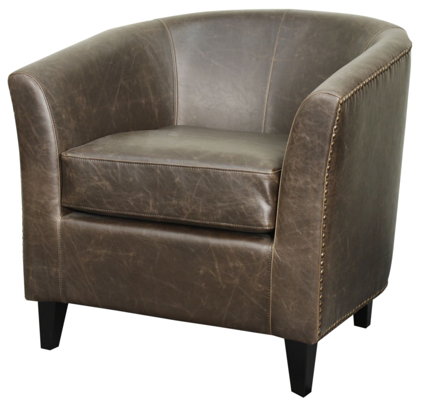 Dark Brown Accent Chairs.Buy New Pacific Direct 353021b V01 B Orson Bonded Leather Tub Chair Black Legs Vintage Dark Brown At Contemporary Furniture Warehouse