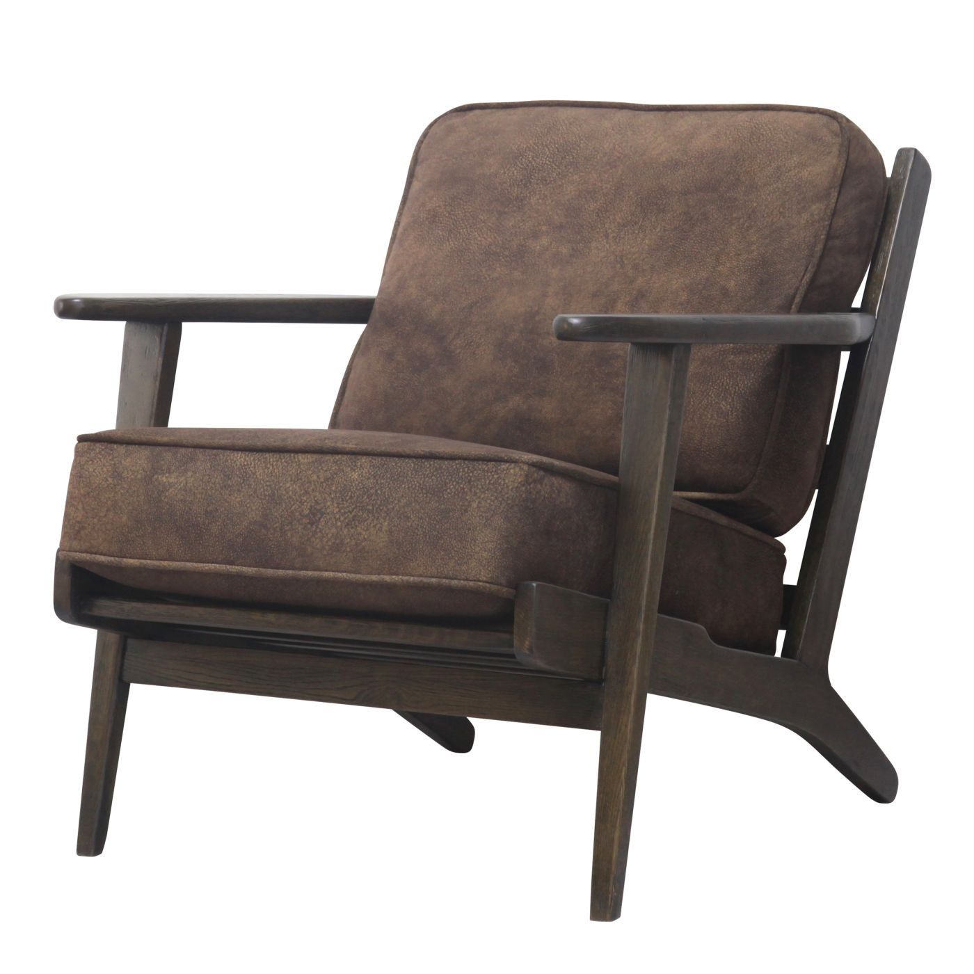 Dark Brown Accent Chairs.Buy New Pacific Direct 3900018 150 Albert Accent Chair Dark Brown Frame Mocha Hide At Contemporary Furniture Warehouse