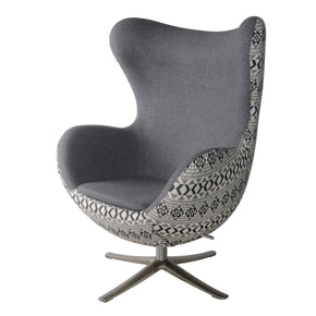 Max Swivel Rocker Chair Chrome Legs Gray Shower /diamond Art Accent