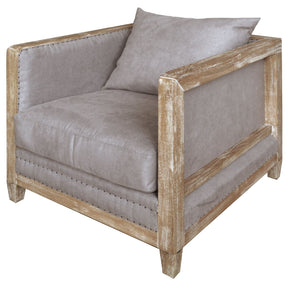 Hartland Arm Chair Denim Dove Gray Accent