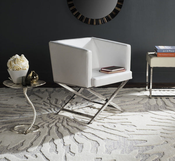 Celine Chair White / Chrome Accent