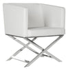 Celine Chair White / Chrome