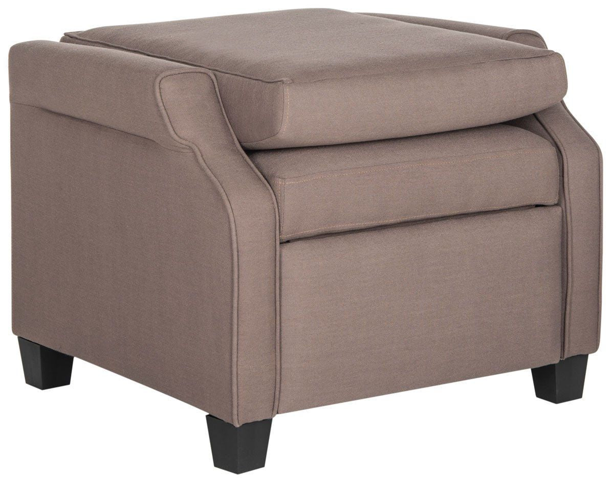 Taupe Accent Chairs.Buy Safavieh Fox6220b Hamilton Recliner Chair Dark Taupe At Contemporary Furniture Warehouse