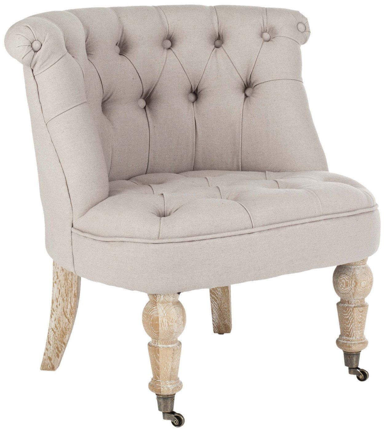 Taupe Accent Chairs.Buy Safavieh Hud8209b Baby Tufted Chair Taupe At Contemporary Furniture Warehouse