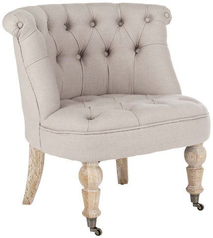 Baby Tufted Chair Taupe Accent