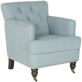 Colin Tufted Club Chair Sky Blue Accent