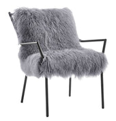 Tov Furniture Uma Grey Sheepskin Accent Chair TOV-A130 | 806810351048| $779.80. Accent Chairs - . Buy today at http://www.contemporaryfurniturewarehouse.com