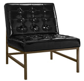 Jed Chair High Gloss Black And Gold Accent