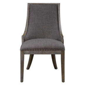 Aidrian Charcoal Gray Accent Chair