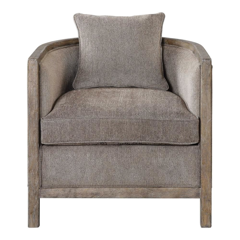 Buy Uttermost Utt 23359 Viaggio Gray Chenille Accent Chair At
