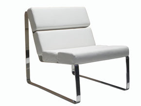 Angel Chair White Eco Leather Accent