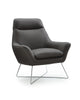 Daiana Chair dark gray top grain italian leather