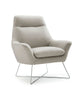 Daiana Chair light gray top grain italian leather