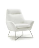 Daiana Chair white top grain italian leather