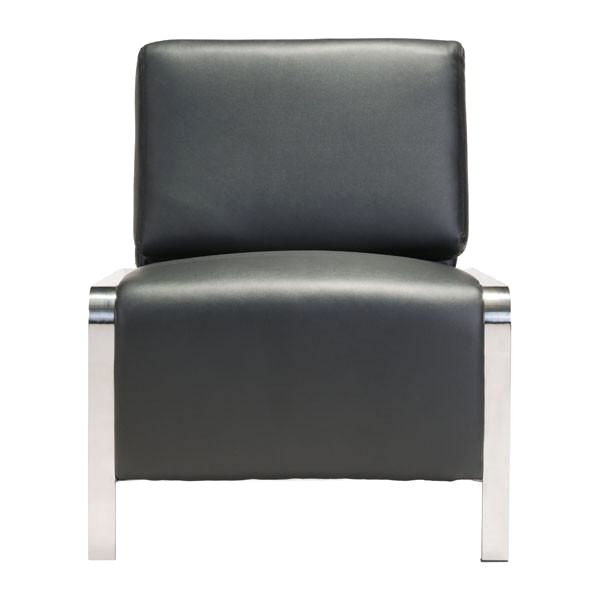 ... Thor Armless Chair With Usb Charging Ports   Black Accent