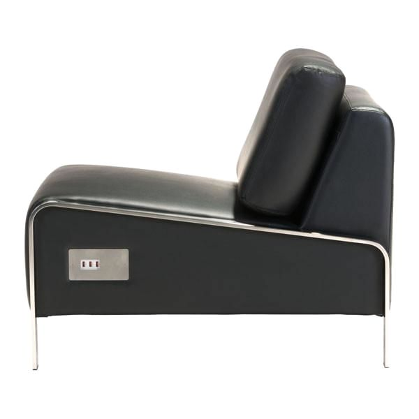 ... Thor Armless Chair With Usb Charging Ports   Black Accent ...