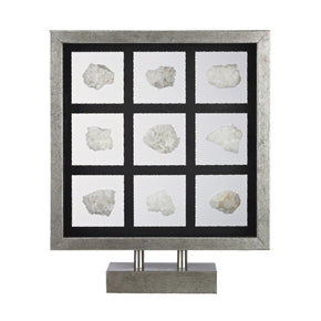 Sea Shell Table Top Display Silver,white Shells Accessories