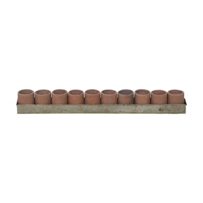 Terra Cotta Tea Light Ring In Natural And Aged Tin Terracotta Accessories