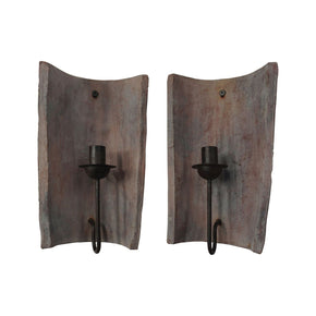 Terra Cotta Tile Candle Sconces Aged Accessories