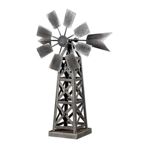 Industrial Wind Mill Accessory Hand Painted Grey & Aged Metal Accessories