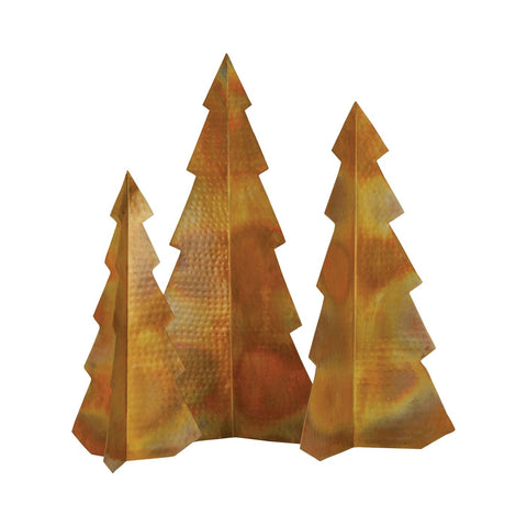 Rustique S3 Christmas Trees Hammered Burned Copper Accessories
