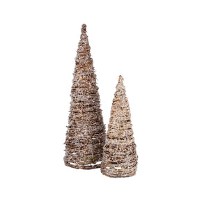 Artisan Set Of 2 Trees Natural,clear Accessories