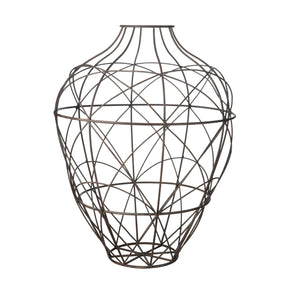 Wire Vessel In Russet - Small Brown Accessories