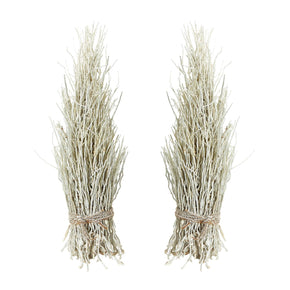 White Washed Cocoa Twig Sheaf - Set Of 2 Accessories