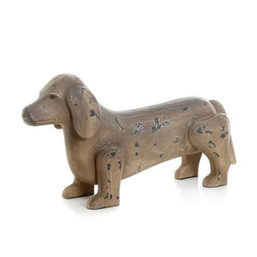 Antique Painted Finish Dachshund Dog Accessories