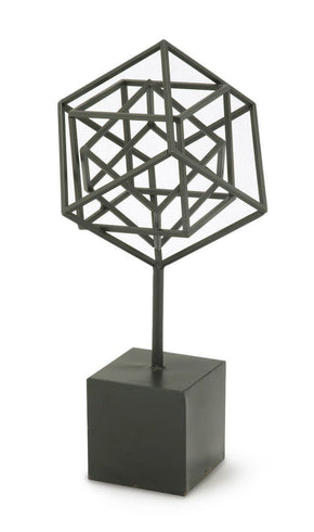 Nested Cubes On Stand Small Iron Accessories